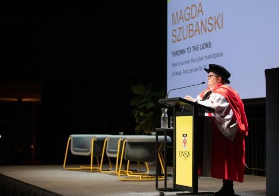 magda szubanski speaking