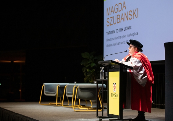 magda szubanski speaking