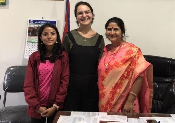 Meeting the acting mayor of Dharan Ms Manju Bhandari