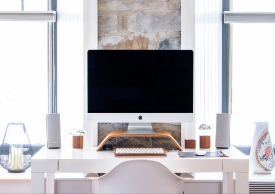 Desk in the home office
