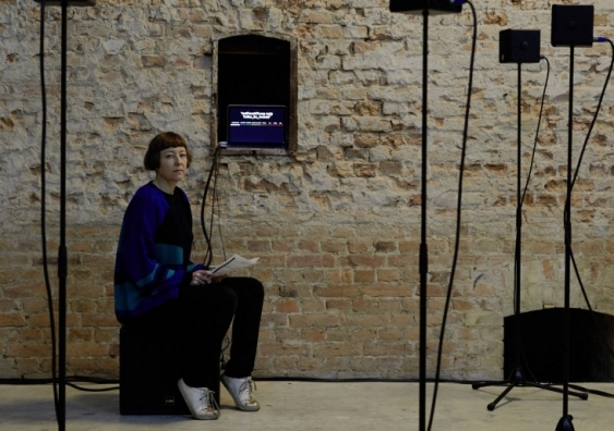 Ms Guffond at the 2018 Eavesdrop Festival of contemporary electronic music and sound art in Berlin. Photo: Noshe.