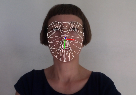 Jasmine Guffond using facial recognition algorithms in her sonification projects. Photo: the artist.