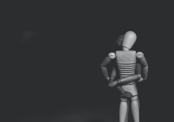Figure toys hugging