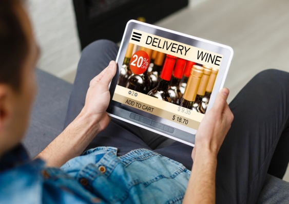 Alcohol delivery is readily available online at the touch of a button