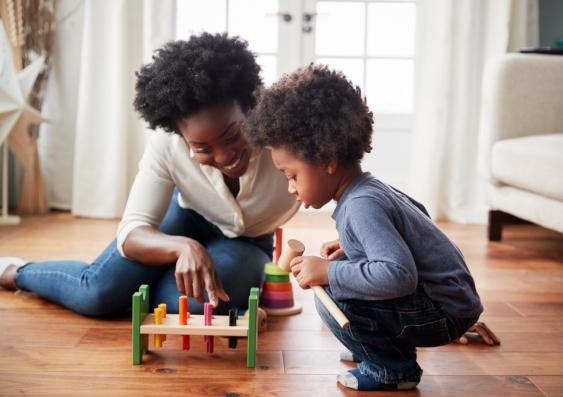 Parent-child play session