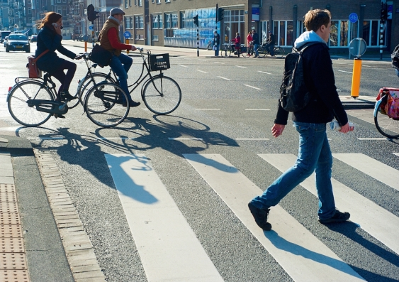 pedestrian friendly street