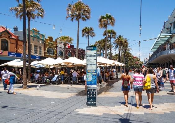 people walking in Manly, Sydney