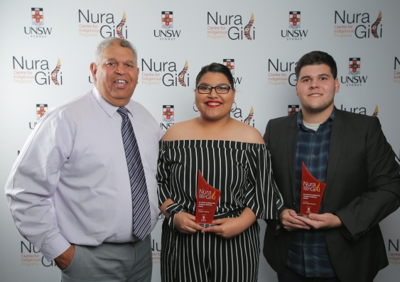 rising_star_award_winners_-_jasmine_tomich_and_matthew_taylor_with_nura_gili_student_services_manager_michael_peachey.jpg