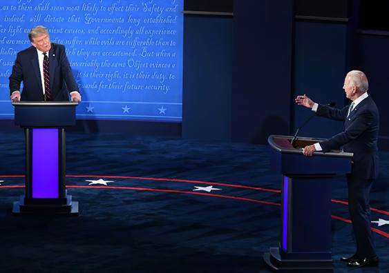 Trump v Biden at US presidential debate 2020