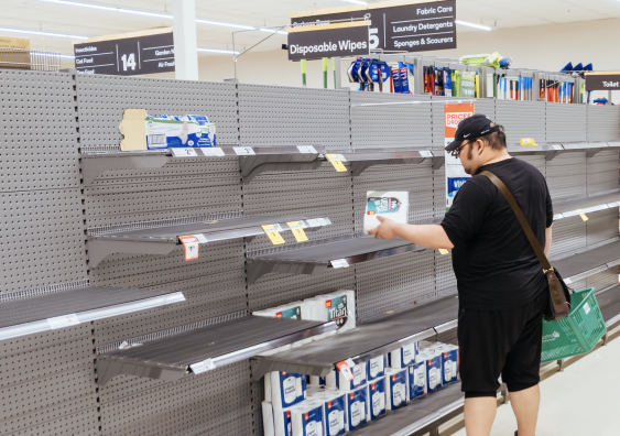 Supermarkets across Australia have introduced a purchase limit on toilet paper to prevent stockpiling.