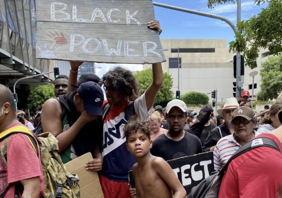 'Black lives matter' protest in Brisbane.