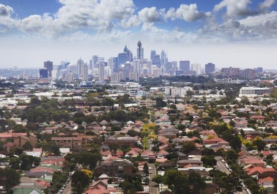 View to Sydney CBD