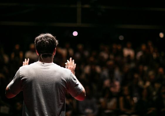 Man making a speech. Photo: Shutterstock