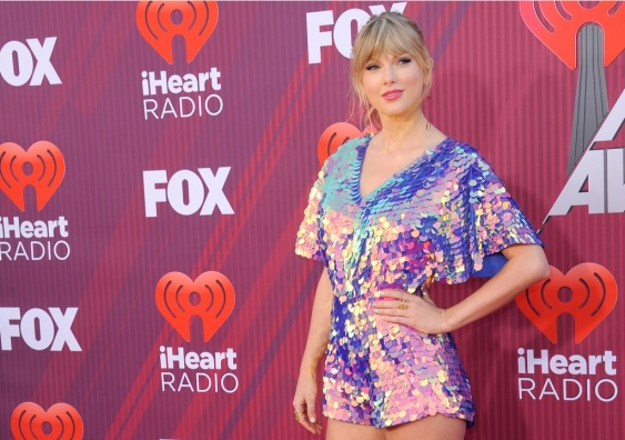 Taylor Swift at the 2019 iHeartRadio Music Awards held at the Microsoft Theater in Los Angeles, USA on March 14, 2019.