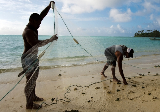 Fishermen in the Cook Islands