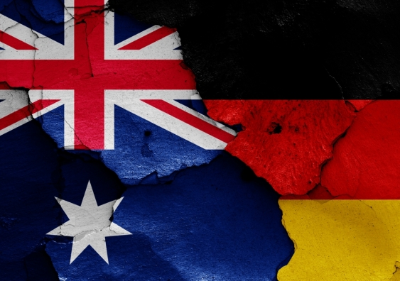 Australian and German flags