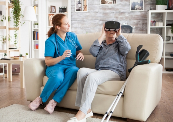 Virtual reality being used in rehabilitation