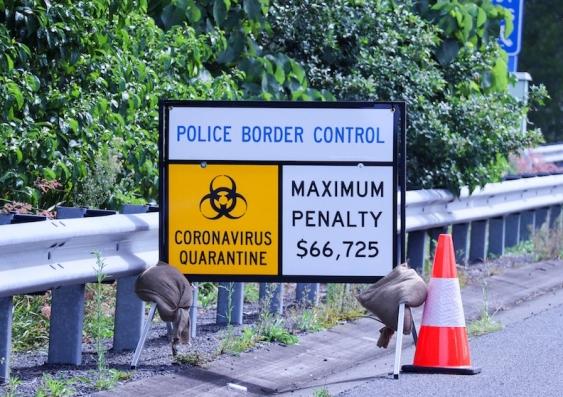 Internal border control during COVID in Australia