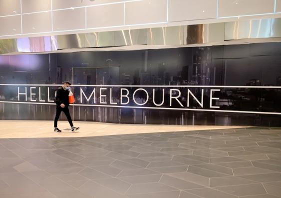 Melbourne sign during lockdown