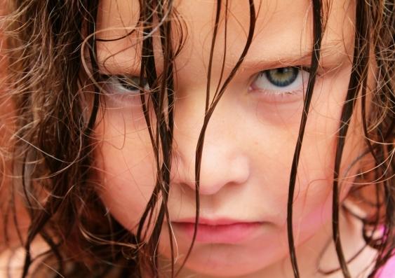 very angry young girl