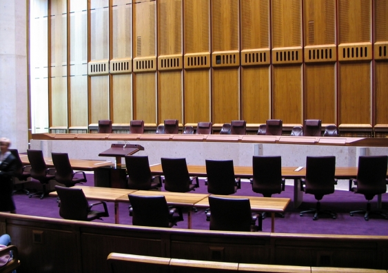A room in the High Court of Australia