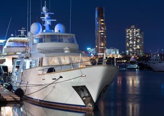 luxury boat in Gold Coast