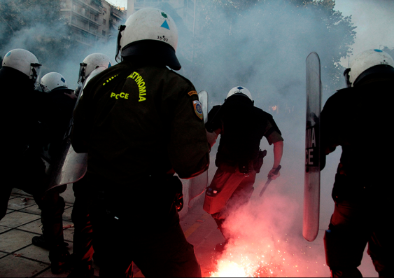 Greek austerity protests 2011