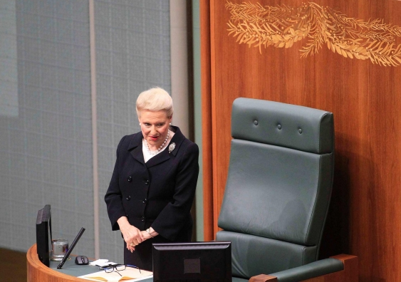 Speaker bronwyn bishop data 1