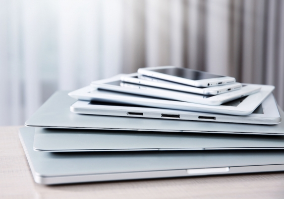 stack of apple products