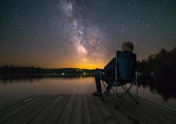 Stargazing from deck