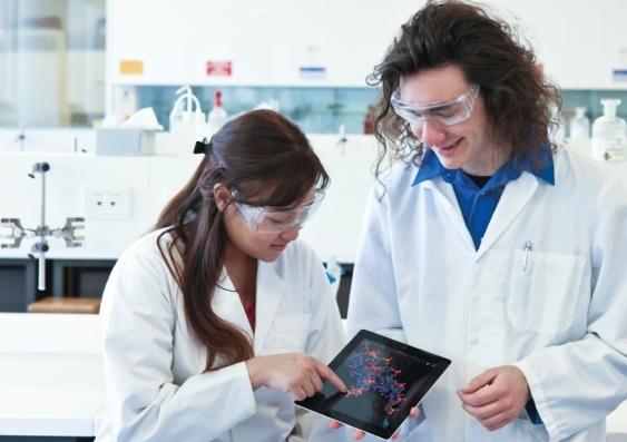 Lab students