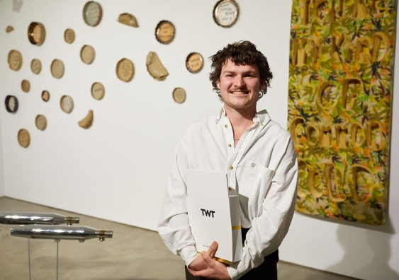 Sydney-based sculptor Joshua Reeves wins the TWT Excellence Prize.