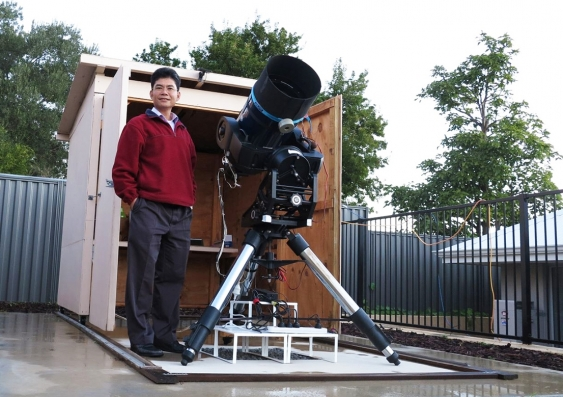Citizen scientist TG Tan and his backyard observatory