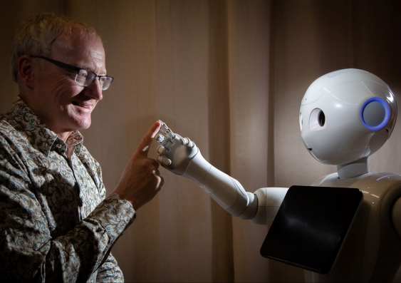 Toby Walsh with robot