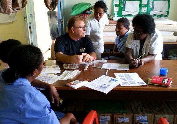 Dr Steve Badman in Papua New Guinea