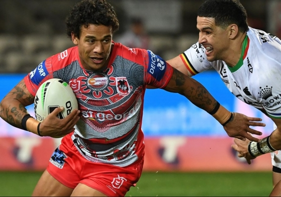 Tristan Sailor playing against Souths in Indigenous Round