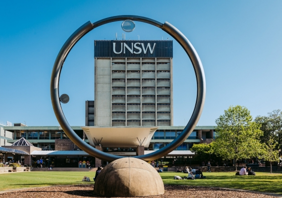 UNSW Library Lawn and building