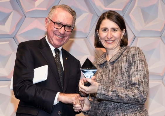 Chancellor David Gonski and the Hon. Gladys Berejiklian MP