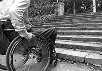 Wheelchair inside