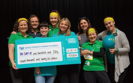 Arc coordinators with Phil' fundraising cheque