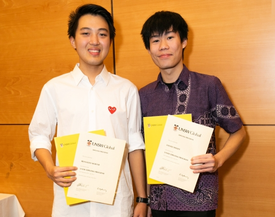 UNSW Global Diploma certificates