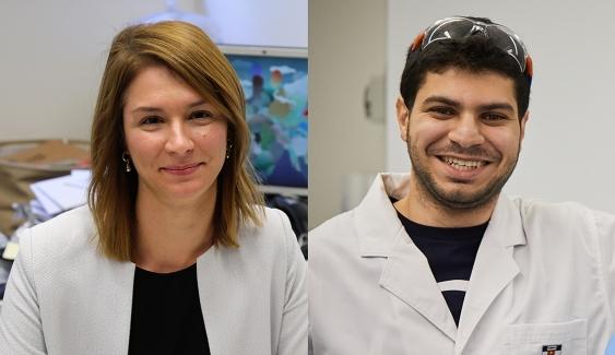 Dr Jelena Rnjak-Kovacina and Habib Joukhdar