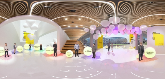 360-degree view of augmented unsw red centre gallery exhibit