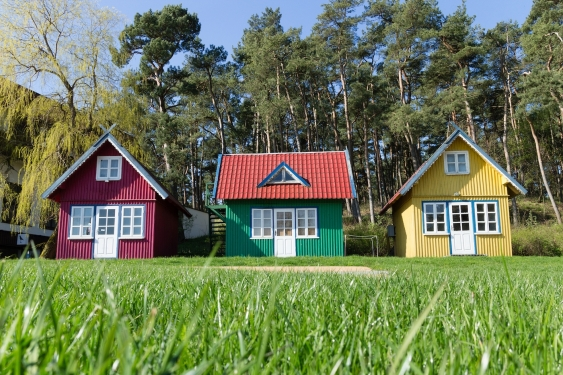 A group of tiny homes
