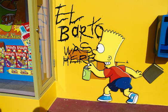 Bart Simpson was here