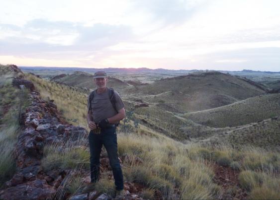 Dr Robert Hazen in the Pilbara, Western Australia