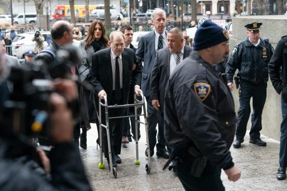New York, Former movie mogul Harvey Weinstein arrives in court, January 6, 2020