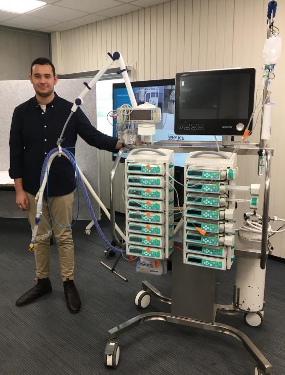 Nicholas Matkovic at an ICU tower presentation