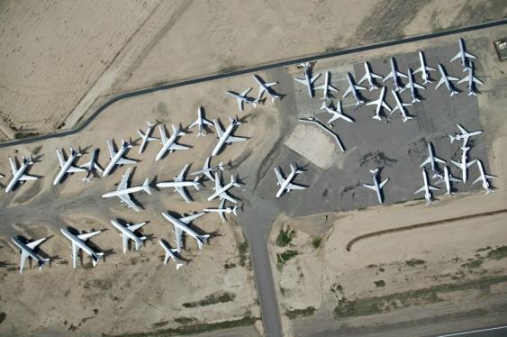 Aircraft in desert storage