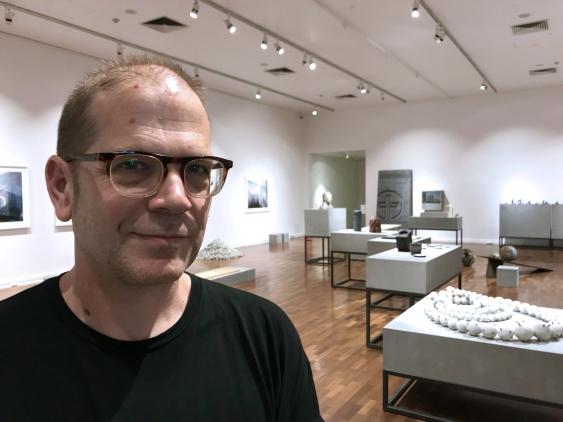Stephen Goddard at Concrete Art Design Architecture Installation, JamFactory, Adelaide, 2019